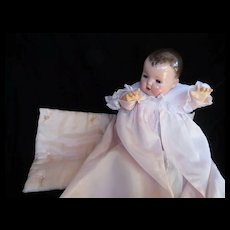"""Vintage  FAO Schwartz Effanbee Dy-Dee Doll Lou Silk trunk pad or box pad for your 20"""" Doll"""