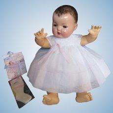 """Vintage """"MINT"""" Effanbee Dy-Dee Doll Lou""""WHITE"""" Crisp Organdy Dress, slip & Socks for your 20"""" Doll"""