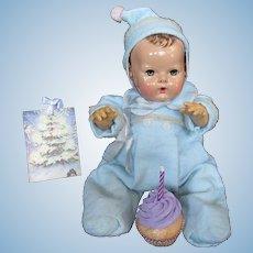 "Vintage Effanbee Dy-Dee Doll Jane Blue Snow Suit & Bonnet for your 15"" Doll"