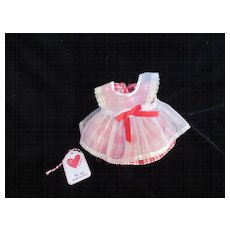 "Vintage ""MINT"" Effanbee Dy-Dee Doll or Tiny Tears Pinafore Valentine's Dress for your 11"" Doll"