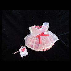 """Vintage """"MINT"""" Effanbee Dy-Dee Doll or Tiny Tears Pinafore Valentine's Dress for your 11"""" Doll"""