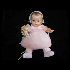 """Vintage """"MINT"""" Effanbee Dy-Dee Doll Lou Dotted Swiss Dress, Bonnet & Booties for your 20"""" Doll"""
