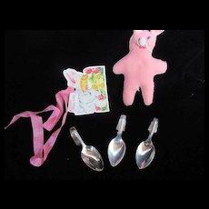 "Vintage Effanbee Dy-Dee Doll ""Three ""Spoons- Silver, Steel & Aluminum"