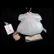 """Vintage"""" RARE"""" MINT Effanbee Dy-Dee Doll Lou Blue Dress- tag Hand Made for your 20""""Doll"""