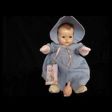 """Vintage Effanbee Dy-Dee Doll Lou Coat and Bonnet for your 20"""" Doll & pink  mittens"""