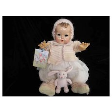 "Vintage Effanbee Dy-Dee Doll Lou Angora Spring Sweater Set for 20"" Doll"