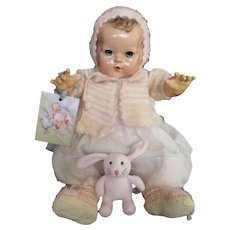 """Vintage Effanbee Dy-Dee Doll Lou Angora Spring Sweater Set for 20"""" Doll"""