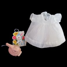 """Vintage""""RARE"""" Effanbee Dy-Dee Doll Organdy Dress & Slip for your 11"""" Doll"""