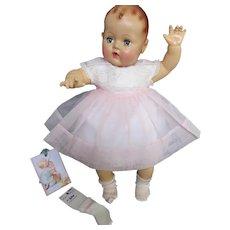 """Vintage """"MINT"""" Effanbee Dy-Dee Doll Lou Dress, Slip & socks for your 20"""" Doll"""