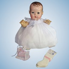 """Vintage """"RARE"""" Effanbee Dy-Dee Doll Jane Organdy Dress & socks for your 15"""" Doll"""
