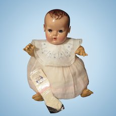 "Vintage RARE ""MINT"" Effanbee Dy-Dee Doll Jane Bib for your 15"" Doll & socks"