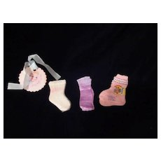 "Vintage MINT Effanbee Dy-Dee Doll Three pair Socks for our 15"" Doll"