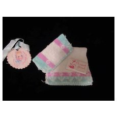 "Vintage ""RARE"" Effanbee Dy-Dee Doll Wash Cloth SET"