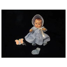 "Vintage Effanbee Dy-Dee Doll  Jane Blue Coat, Bonnet & Socks for your 15"" Doll"