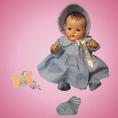 """Vintage Effanbee Dy-Dee Doll  Jane Blue Coat, Bonnet & Socks for your 15"""" Doll"""