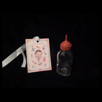 "Vintage ""MINT"" ""RARE"" Effanbee Dy-Dee Doll Bottle with Soft tip"