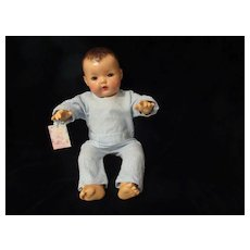 "Vintage Effanbee Dy-Dee Doll Blue Stripe Pajamas for your 20"" Doll- Few Very Tiny spots"