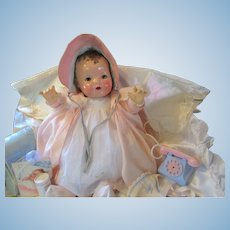 "Vintage ""GORGEOUS "" Effanbee Dy-Dee doll Lou Mold I 20"" with Layette- BLUE EYES"
