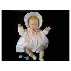 """Vintage """"EXTREMELY RARE"""" Effanbee Grumpy Composition Doll 22"""" The LARGEST Size made - late 1920's- Original Christening Dress"""