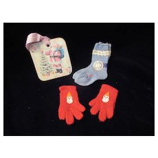 """Vintage""""MINT"""" Effanbee Dy-Dee Doll Dolsox & Mittens for your 20"""" Doll"""