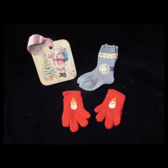 "Vintage""MINT"" Effanbee Dy-Dee Doll Dolsox & Mittens for your 20"" Doll"