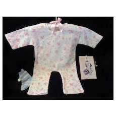 """Vintage Effanbee Dy-Dee Doll Lou pajamas for 20"""" Doll- Faint yellow on one leg- very faint yellow on top back shoulder"""