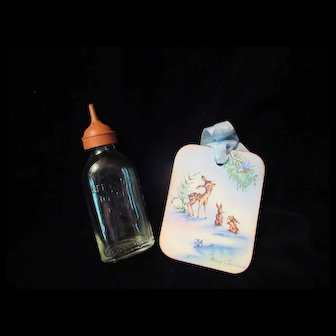 Vintage Effanbee Dy-Dee Doll Bottle with tip- the tip has hardened