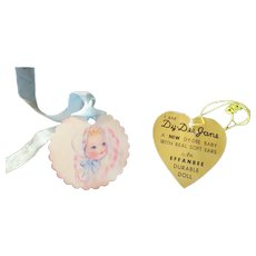 """Vintage Effanbee Dy-Dee Doll Jane Gold Heart tag for your 15"""" Doll- """"With Real Soft Ears"""""""