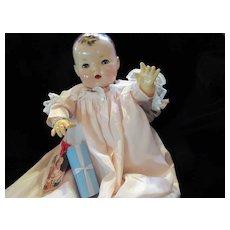 "Vintage Effanbee Dy-De Doll Lou Blue Glass Bead Bracelet for your 20"" Doll"