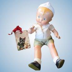 "Vintage Effanbee Skippy Composition 13"" Doll - MINTY- Original Clothes"