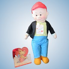 "Vintage ""MINT"" Georgene Sluggo Doll "" Little LuLu Friend"" with Original tag & Clothes-1940's-15"""