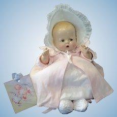 "Vintage Horsman Composition Baby Buttercup Doll 12"""