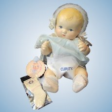 """Vintage Effanbee Dy-Dee Doll"""" MINT"""" RARE Curity Diaper & Socks for your 11"""""""