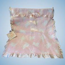 """Vintage Effanbee Dy-Dee Doll Little Bo Peep Blanket. 20"""" X 18"""" for 20"""" Doll"""