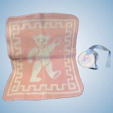 "Vintage Effanbee Dy-Dee Doll RARE Bear Esmond Blanket. 12"" X 9"""