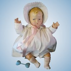 "Vintage ""RARE"" Effanbee Grumpy Doll 1920's in Original Christening Dress 22"""