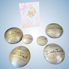 "Vintage ""RARE"" Shirley Temple Hub Caps and Hood cap side knob"