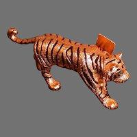 Estee Lauder Solid Perfume Compact, Figural Tiger