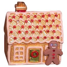 Estee Lauder Solid Perfume, Gingerbread House Figural Compact