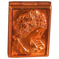 Estee Lauder Goldtone Cameo Solid Perfume Compact