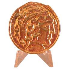 "Estee Lauder Goldtone ""Prosperity"" Coin Perfume Compact"