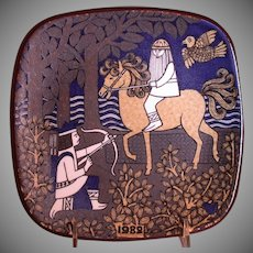 Arabia Pottery Annual Kalevala Collectible Plate, 1982