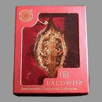 Baldwin Brass Racinet Snowflake Ornament, Smithsonian Collection