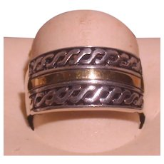 Sterling And 14K Yellow Gold Ring