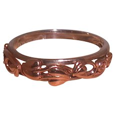 Sterling Silver And 14K Rose Gold Ring