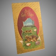 Antique Easter Postcard, C. 1911, Embossed, Textured