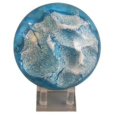 """American-made """"Glacier"""" Paperweight, Glass Eye Studio, Signed"""