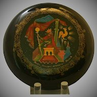 """Russian Lacquer Box, """"Tale of the Golden Cockerel"""", Signed"""