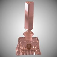 Crystal Perfume Bottle w/Prism Stopper, Cold War Era W. Germany