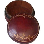 Florentine Leather Box, Gilded and Stamped, Wood Interior, Vintage